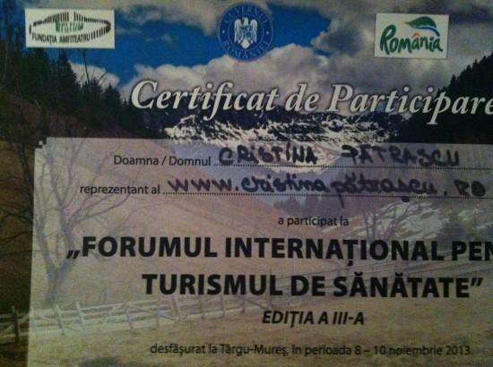 Forum International Turism Sanatate